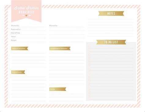 printables  bridal shower planning