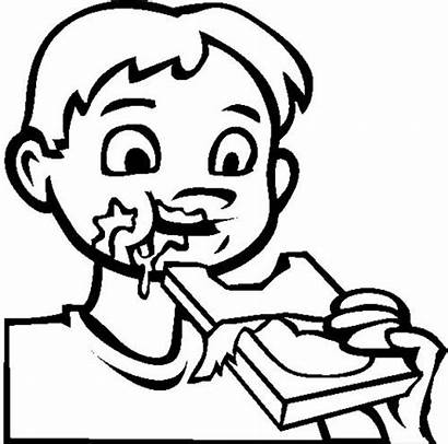 Chocolate Coloring Pages Bar Chip Eat Candy