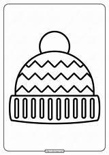 Hat Winter Coloring Printable Pdf sketch template