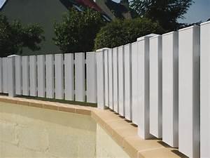 Lames Pvc Pour Cloture : cl ture pvc frises sur mesure habitat discount cl tures pvc ~ Melissatoandfro.com Idées de Décoration
