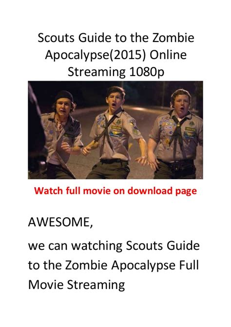 zombie scouts guide apocalypse action comedy films movie slideshare comedies