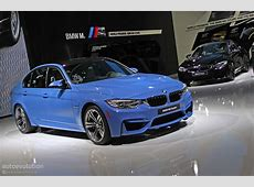 New BMW M3 Is Blue All Over in Detroit [Live Photos