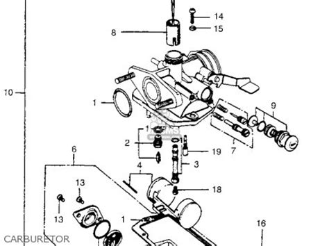 honda ct90 trail 90 k5 1974 usa parts list partsmanual