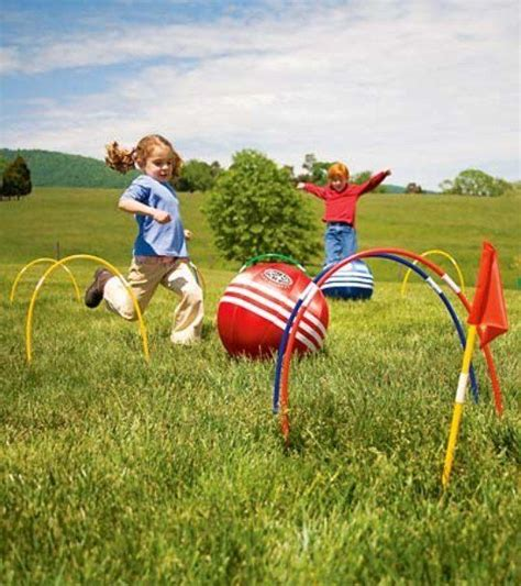 kick croquet  images outdoor games kids playing