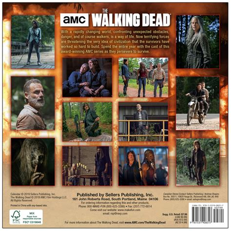 amc walking dead mini calendar rsvp