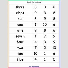 Number Words Worksheet Keywordstoddler,preschool,kindergarten,kids,match,activity,learn,file