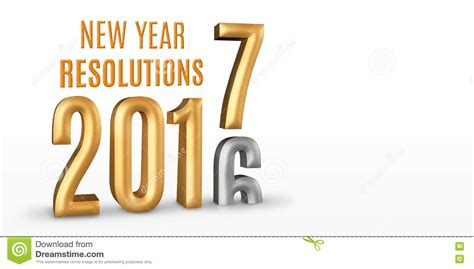 New Year Resolutions 2016 Gold Number Year Change To 2017