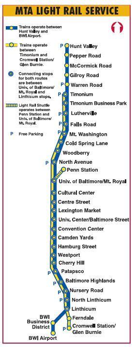 baltimore light rail schedule baltimore light rail and metro