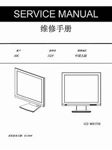 Aoc Tft-lcd Color Monitor 152v Service Manual