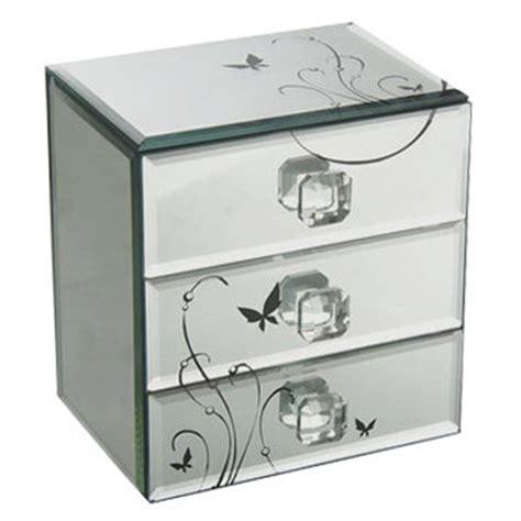 mirrored glass jewelry box 3 drawer mirror jewelry box made of glass and mdf back 7534