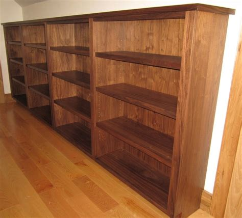 black walnut bookcase traditional family room