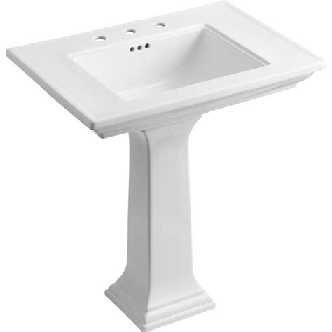 sink kitchen faucet kohler k 2268 8 0 memoirs white pedestals single bowl 2268