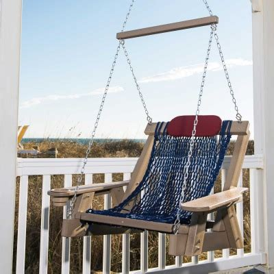 lifestyle swing weatherwood durawood deluxe rope swing nags