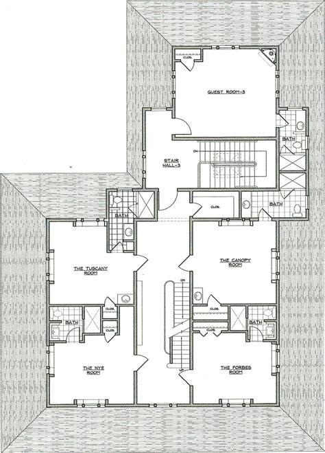 bb construction update  floor blueprint captains manor inn falmouth massachusetts