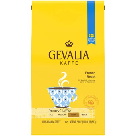 4.9 out of 5 stars 19. Save on Gevalia Kaffe French Dark Roast Coffee (Ground) Order Online Delivery   GIANT