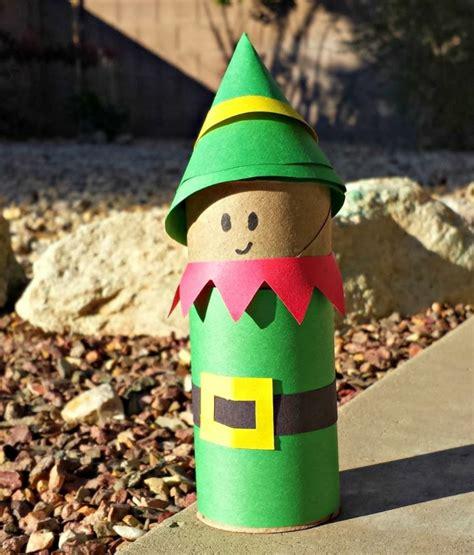 basteln weihnachten tonpapier basteln mit klorollen zu weihnachten 20 tolle recycling ideen
