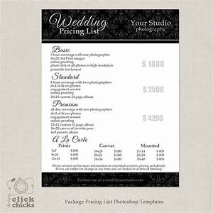 photography package pricing list template wedding With wedding photography packages template