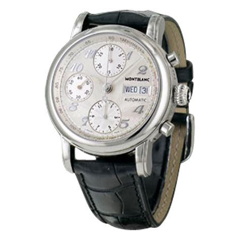 montre mont blanc meisterstuck chronographe remontage automatique acier r 233 f a59936 instant luxe