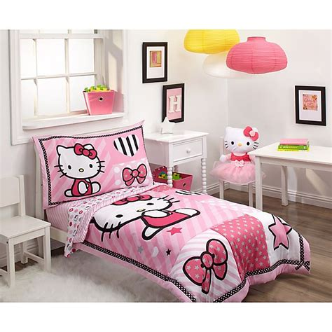kitty  piece toddler bedding set bed bath