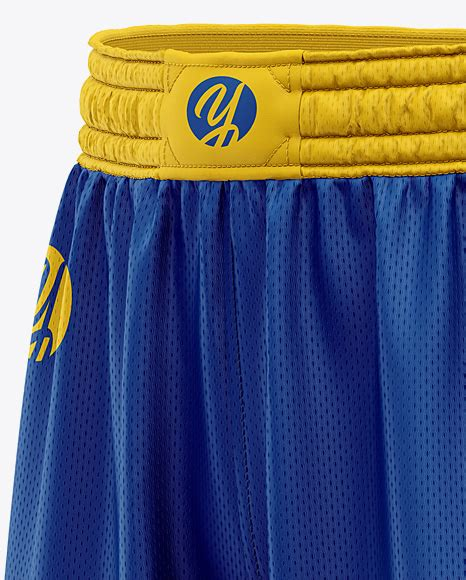 Designed for both playing and training. Men's Basketball Shorts Mockup - Front Half Side View in ...