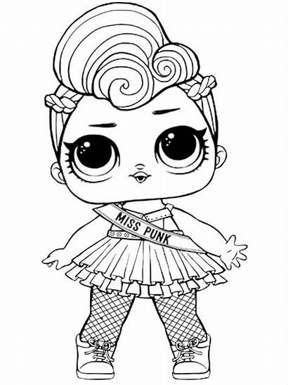 Lol Coloring Pages Dolls Printable Doll Bright