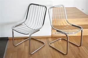 Beeteinfassung Metall Bauhaus : 2 st ck designer sessel freischwinger ra bauhaus design metall verchromt 1970 ~ Orissabook.com Haus und Dekorationen