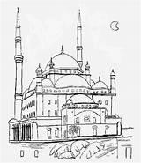 Cami Boyama Kolay Resmi Sayfasi Okul sketch template