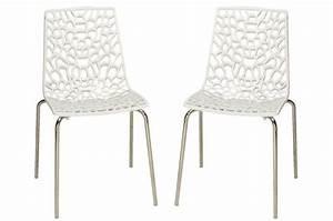 Lot De Chaises Design Pas Cher : lot de 2 chaises blanches traviata chaises design pas cher ~ Melissatoandfro.com Idées de Décoration