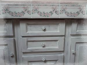 Peinture A Effet Pour Meuble : effet shabby pour le meuble de la salle de bain charme d 39 antan ~ Melissatoandfro.com Idées de Décoration