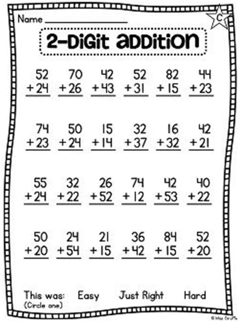 grade math unit    digit addition