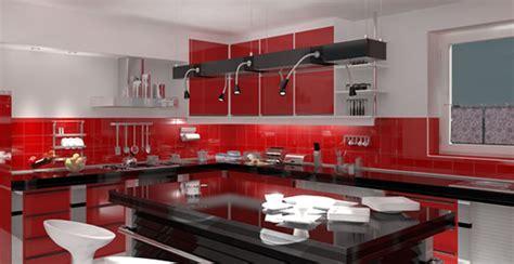 decoraciones en blanco rojo  negro  la cocina mi