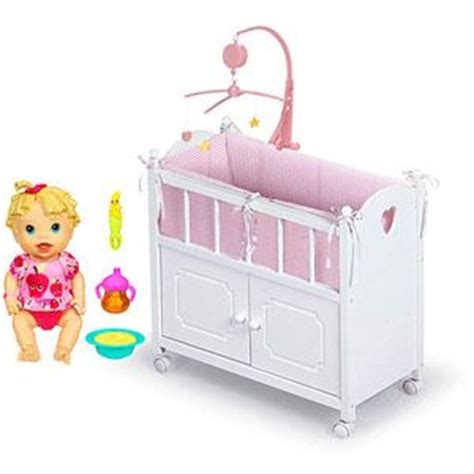 baby alive crib baby alive baby all doll with badger basket doll crib