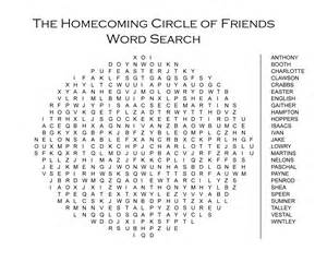 Friends Word Search