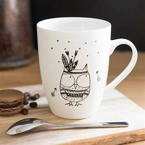 Cloche En Verre Maison Du Monde : mug motif hibou en porcelaine maisons du monde ~ Melissatoandfro.com Idées de Décoration