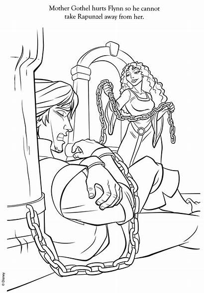 Coloring Pages Tangled Flynn Gothel Mother Disney