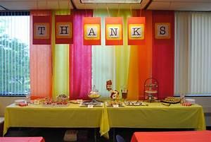 Dessert Bar and Centerpieces for Staff Appreciation Mama