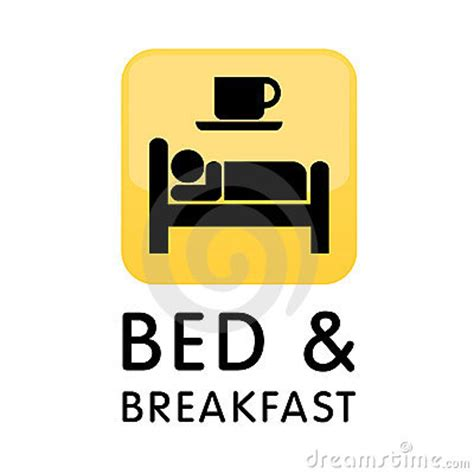 illustration cuisine bed and breakfast icon logo royalty free stock photos