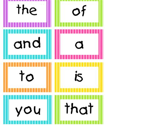 word wall template spotted in grade bright stripes word wall cards