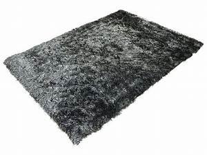tapis 120x170 cm glitter coloris noir vente de tapis With tapis conforama gris