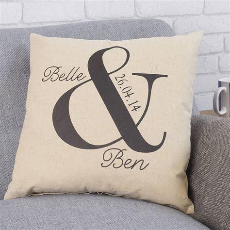 personalised ersand wedding cushion by tillyanna