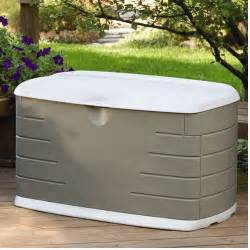 rubbermaid 75 gallon outdoor storage box walmart com