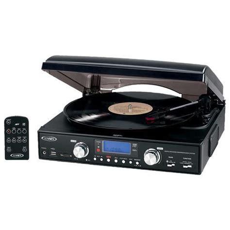 JENSEN 3-Speed Stereo Turntable Black JTA-460 - Best Buy ...