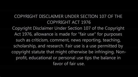 copyright disclaimer youtube