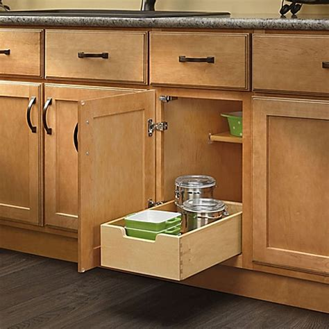 kitchen cabinets pull out drawers rev a shelf 174 base cabinet pull out drawer bed bath beyond 8121