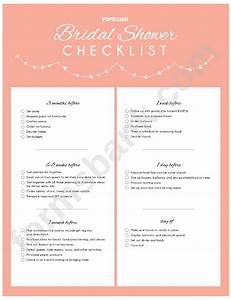 Bridal Shower Checklist Printable Pdf Download