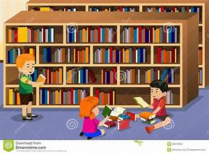 Kids reading a book stock vector. Image of preschool ...