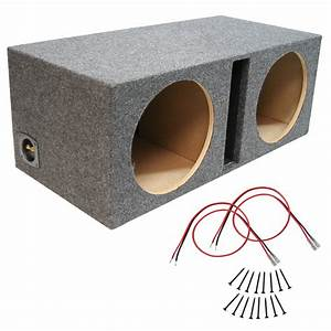 Car Audio Dual 12 Inch Vented Subwoofer Enclosure Stereo