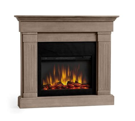 fireplace tv stands entertainment centers pottery barn