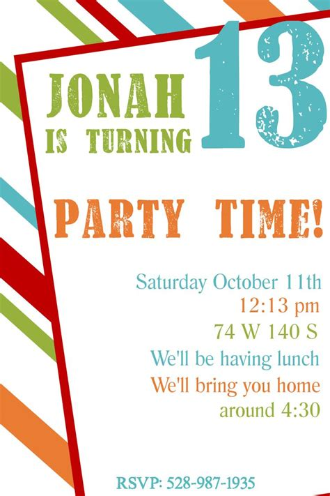 printable birthday invitation templates printables