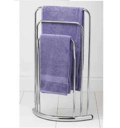 Bathroom Floor Towel by Chrome 3 Tier Bathroom Towel Rail Stand Holder Floor Free